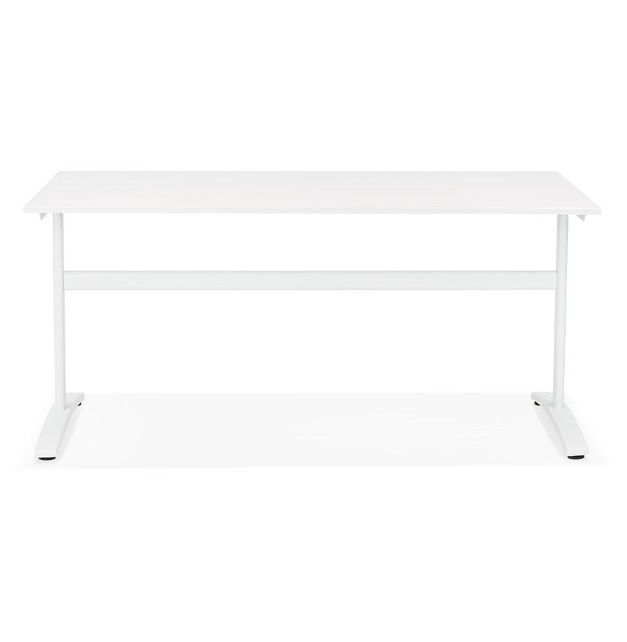 Grand bureau droit ´CRYPTO´ blanc - 160x80 cm