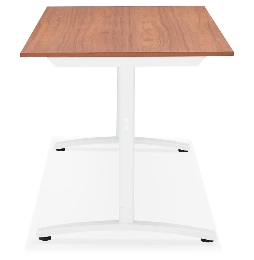 Grand bureau droit ´CRYPTO´ en bois finition Noyer - 160x80 cm
