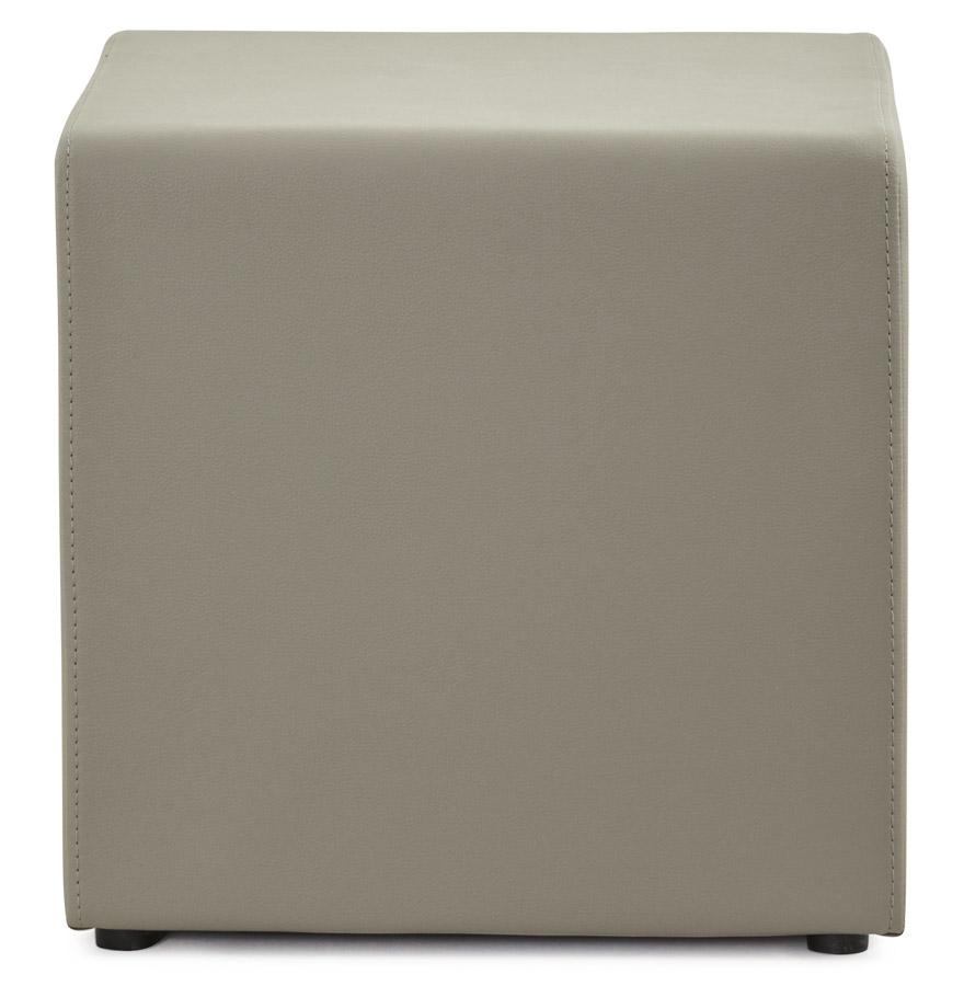cube grey psd h2 02 - Pouf ´CUBE´ de salon en matière synthétique grise
