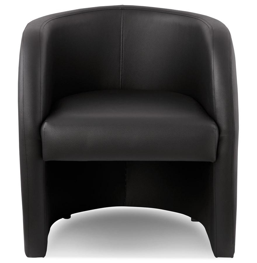 Zwart fauteuil voor de woonkamer max 1 zitplaats design zitbank - Woonkamer in zwart ...