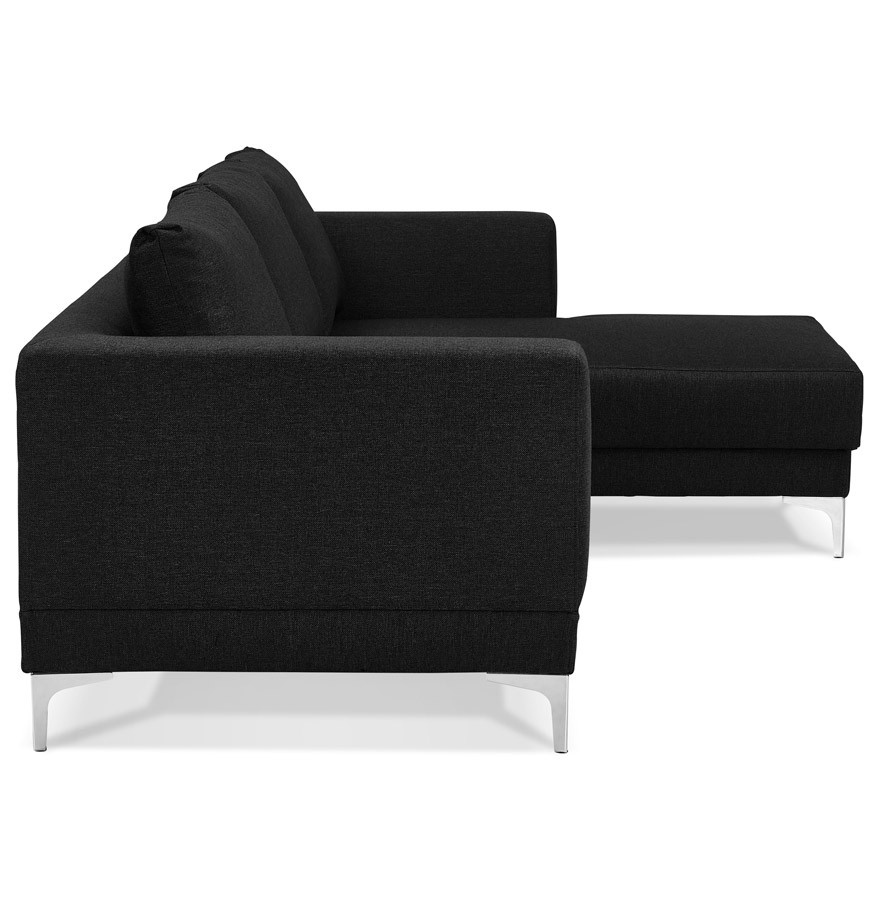 Design hoekzitbank melting zwart met m ridienne hoek rechts - Plaid voor sofa met hoek ...