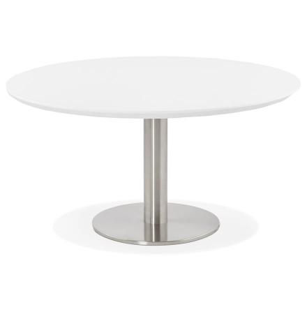 Table basse lounge AGUA blanche - Ø 90 cm