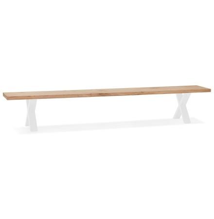 Banquette design 'ALEXANDRA BENCH' en bois et métal blanc - 260 CM