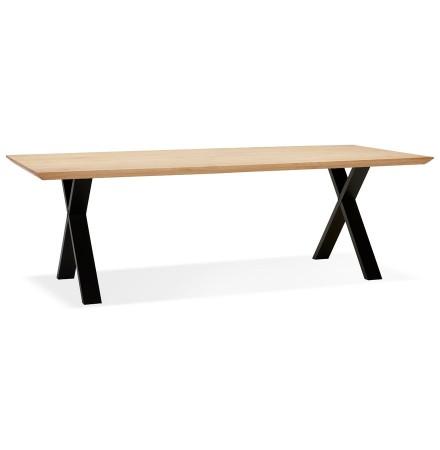 Table à diner 'ALEXANDRA' en chêne avec pieds noirs - 260X100 CM
