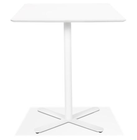 Table de cuisine design 'ALPINE' blanche carrée - 70x70 cm