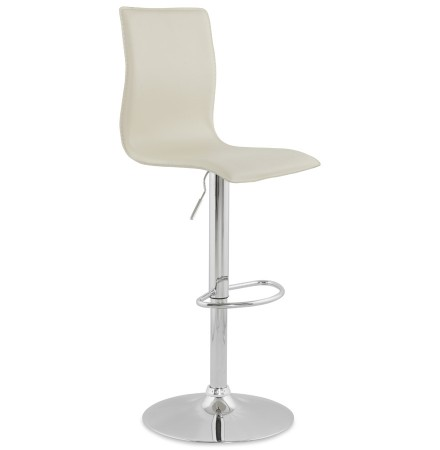 Tabouret design reglable ALTO couleur creme - Alterego