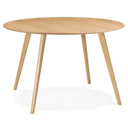 Table de cuisine ronde 'AMY' en bois finition naturelle - ø 120 cm