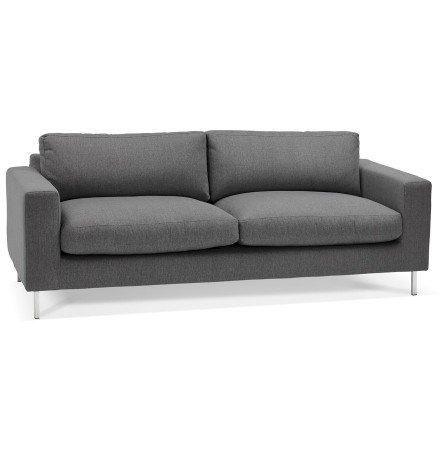 Canapé droit moderne 'AUGUSTIN' en tissu gris foncé