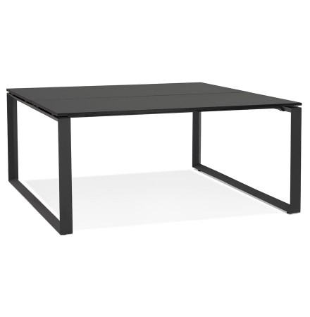 Table de réunion / bureau bench 'BAKUS SQUARE' noir - 140x140 cm