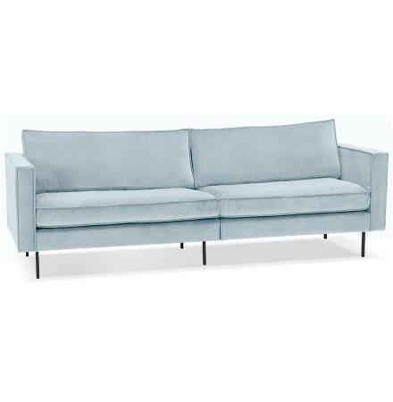 Grand canapé droit 'BANDY XXL' en velours bleu clair - canapé 4 places