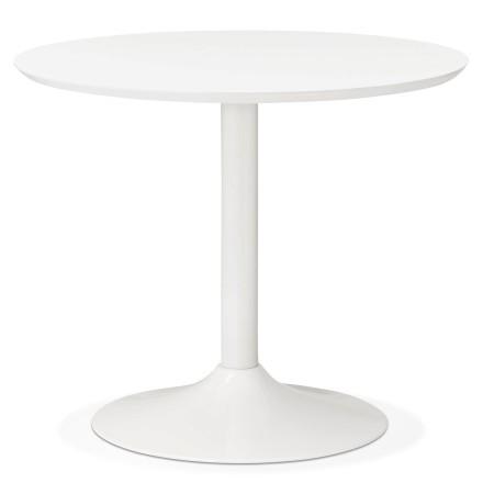 Petite table de bureau / à diner ronde 'BARABAR' blanche - Ø 90 cm
