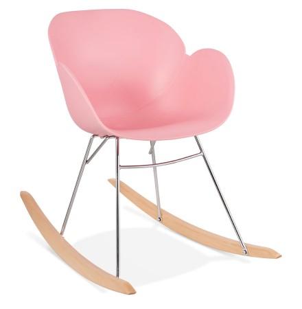 Chaise à bascule design 'BASKUL' rose en matière plastique