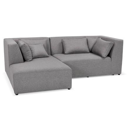 Canapé d'angle 'BELAGIO ANGLE' gris clair - canapé modulable (angle à gauche)