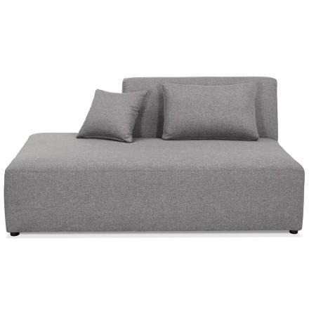 Élément de canapé modulable 'BELAGIO BENCH' gris clair - méridienne gauche