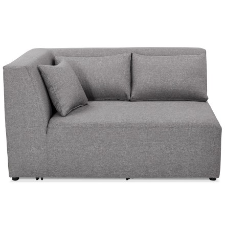 Élément de canapé modulable 'BELAGIO CORNER' gris clair - coin angle gauche