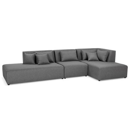Canapé modulable design 'BELAGIO XL' gris foncé (angle à droite)