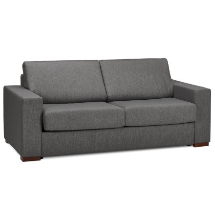 Canapé 3 places convertible en lit 'BELGO' en tissu foncé