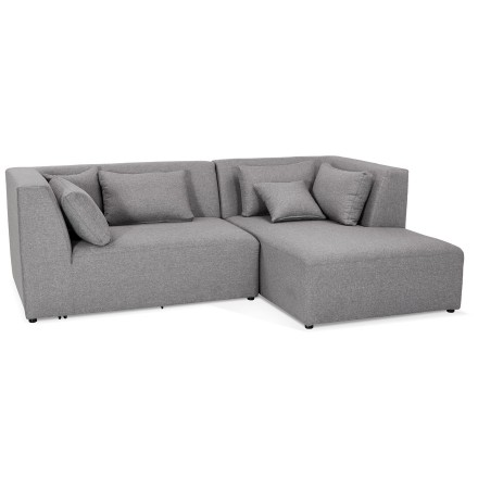 Canapé d'angle BELAGIO ANGLE gris clair (droite) - Alterego