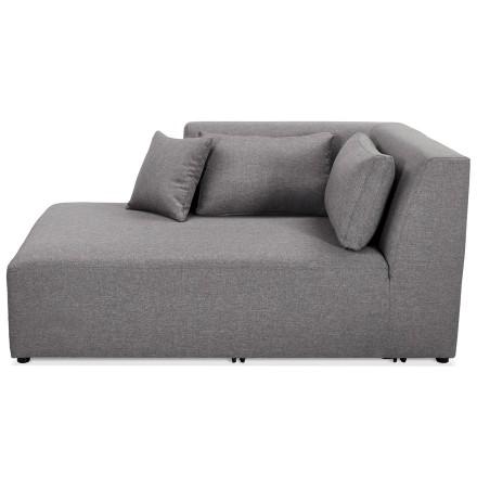 Élément de canapé modulable 'BELAGIO LONGCHAIR' gris clair - méridienne angle gauche