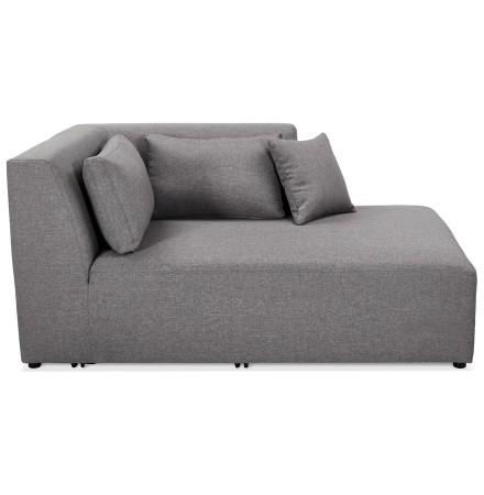 Élément de canapé modulable 'BELAGIO LONGCHAIR' gris clair - méridienne angle droit