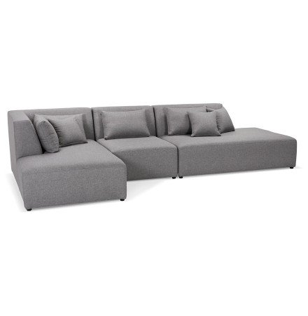 Canapé modulable design 'BELAGIO XL' gris clair (angle à gauche)