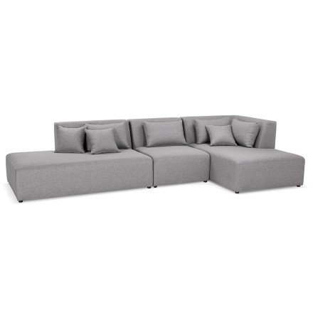 Canapé modulable design BELAGIO XL gris clair (droite) - Alterego