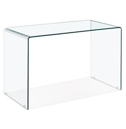 Bureau droit en verre transparent 'BOBBY DESK' très moderne