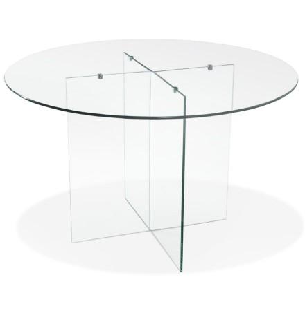 Table de salle à manger ronde en verre 'BOBBY TABLE ROUND' design - Ø 120 cm