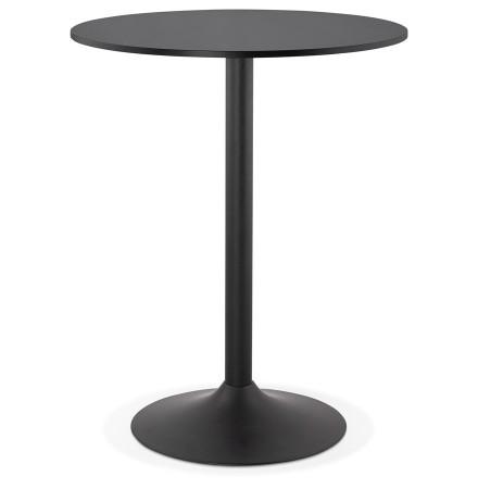 Mange-debout / table haute 'BRASILIA' noire - Ø 90 cm