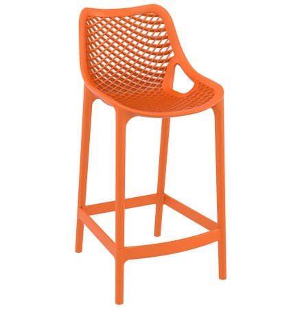Tabouret snack mi-hauteur 'BROZER MINI' orange empilable