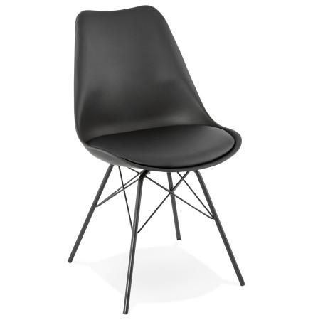 Chaise design BYBLOS noire style industriel - Alterego