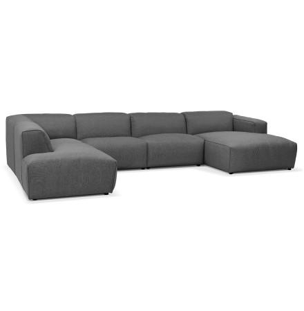 Canapé panoramique en U design 'CANYON U SHAPE' gris foncé (angle à gauche)
