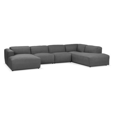 Canapé panoramique en U design 'CANYON U SHAPE' gris foncé (angle à droite)