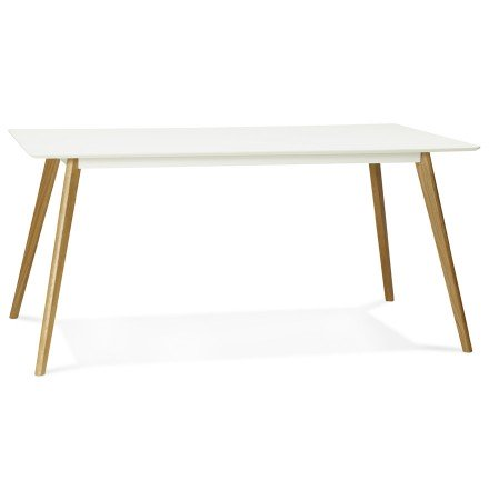 Table de cuisine rectangulaire / bureau droit CANDY blanc de 160x90 cm - Alterego