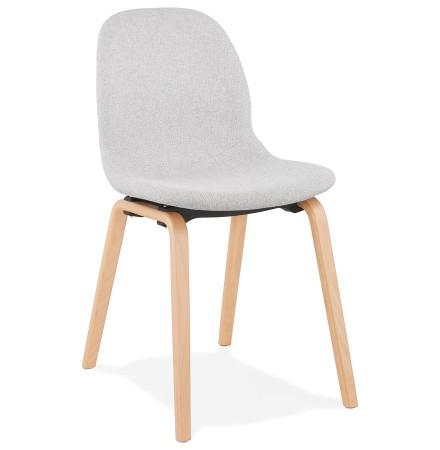 Chaise scandinave de salle à manger 'CELTIK' en tissu gris clair