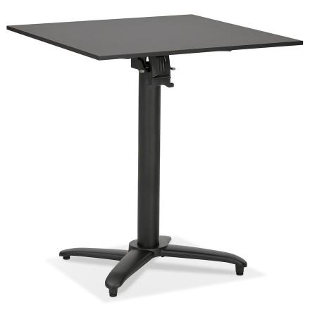 Table de terrasse pliable 'COMPAKT' carrée noire - 68x68 cm