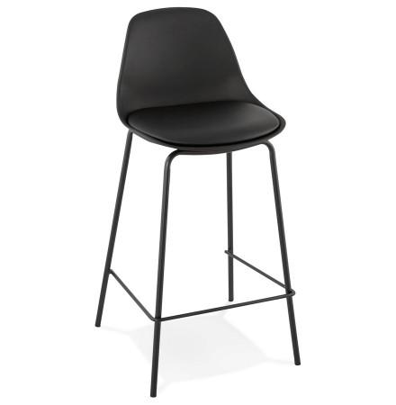 Tabouret mi-hauteur COOKIE MINI noir style industriel - Alterego