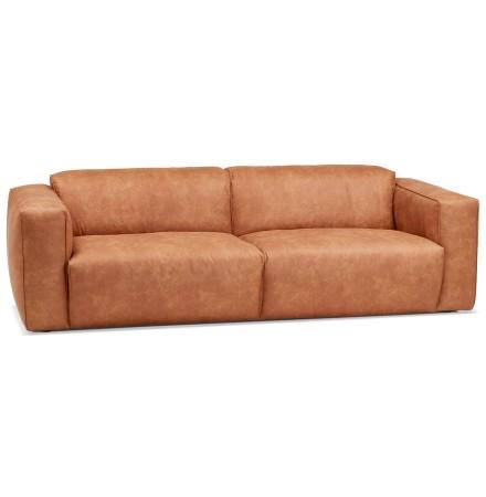 Canapé droit 'COYOT' couleur cannelle - canapé 3 places design