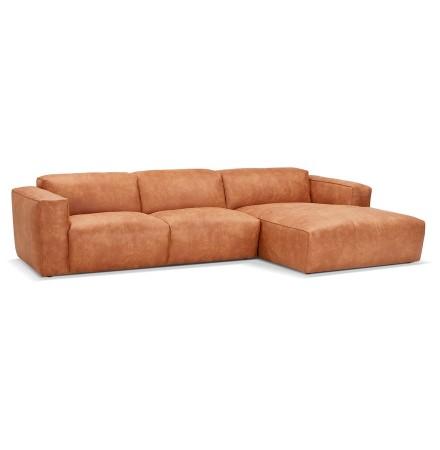 Canapé d'angle design 'COYOT L SHAPE' couleur cannelle (angle à droite)
