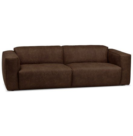 Canapé droit 'COYOT' brun - canapé 3 places design