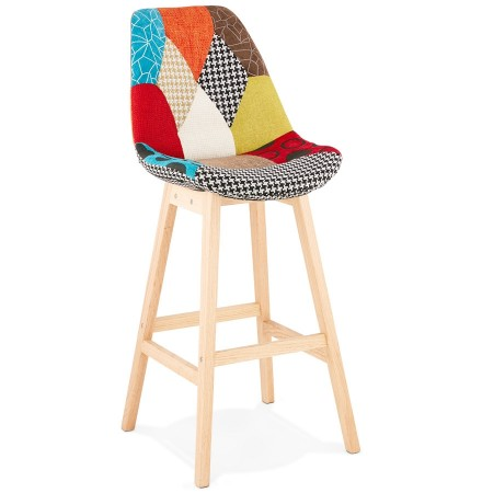 Tabouret de bar 'CUPIDON' style patchwork