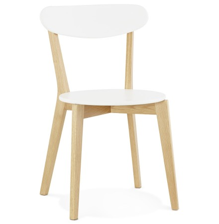 Chaise scandinave DADY blanche design - Alterego