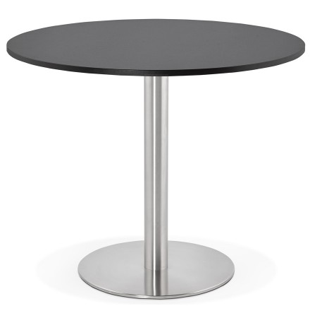 Petite table de bureau / à diner ronde 'DALLAS' noire - Ø 90 cm