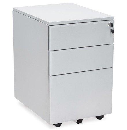 Caisson de rangement 'DALI' gris à tiroirs pour bureau