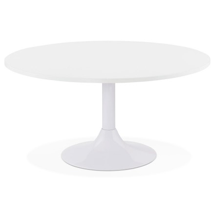 Table basse lounge DETROY blanche - Ø 90 cm