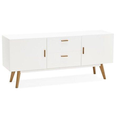 Bahut design DIEGO en bois blanc style scandinave - Alterego