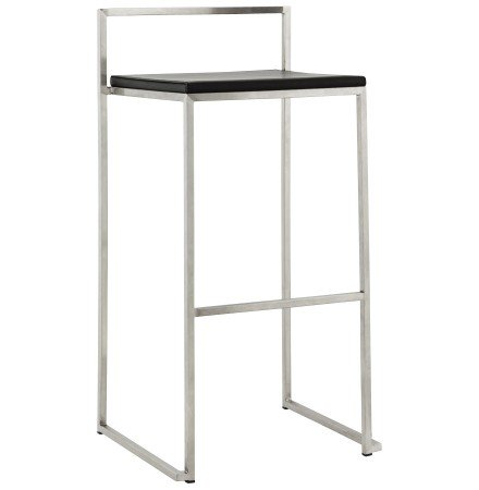 Tabouret de bar design 'DISKO' noir empilable style industriel