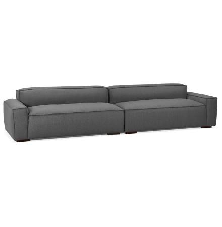 Grand canapé design 'DODU XXL' en tissu gris foncé - canapé droit 5 places