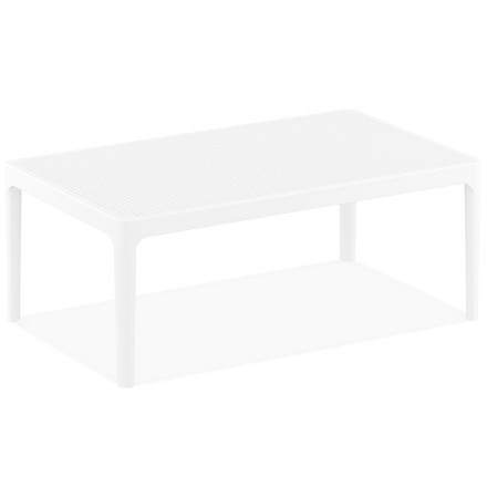 Table basse de jardin 'DOTY' blanche design - 100x60 cm