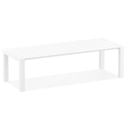 Table de jardin extensible 'ELASTIK LARGE' blanche - 260(300)x100 cm